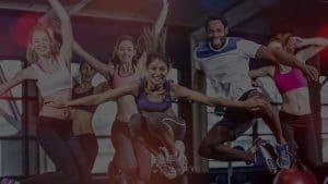 Spinning, Fitness, Workout > WOWTOWELZ Mikrofasertuch, Microfaser-Handtuch für Sport Fitness Fitnesscenter Fit-Machen. Towels / Handtücher mit WOW-Effekt. (© Foto: vectorfusionart / stock.adobe.com)